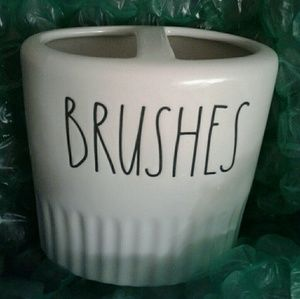 Rae Dunn Toothbrush Holder ' BRUSHES '